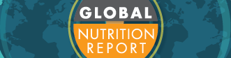banner of the 2015 Global Nutrition Report; links to program website