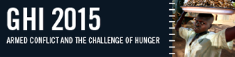 banner of the 2015 Global Hunger Index; links to program website